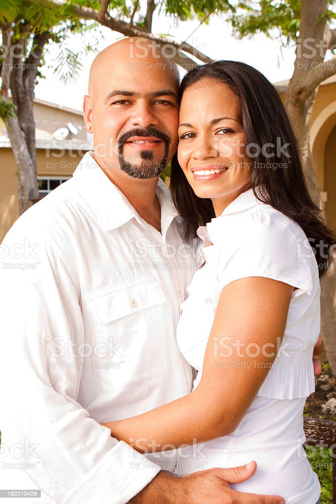 Beautiful Hispanic Couple royalty-free stock photo