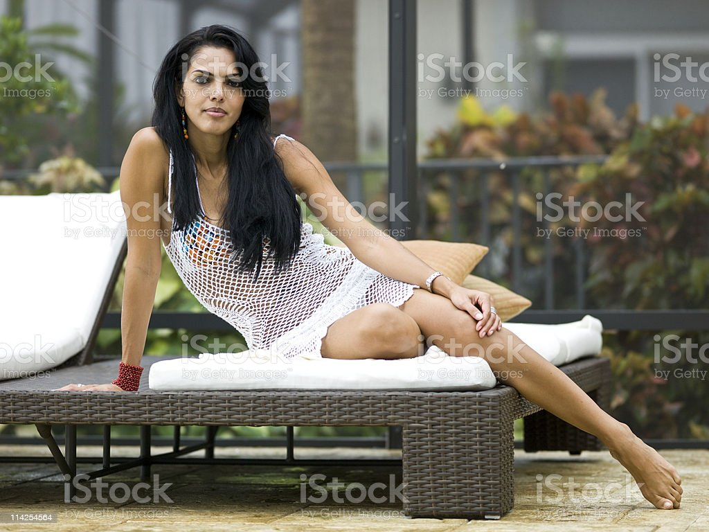 Beautiful Hispanic Thirty Something woman royalty-free stock photo