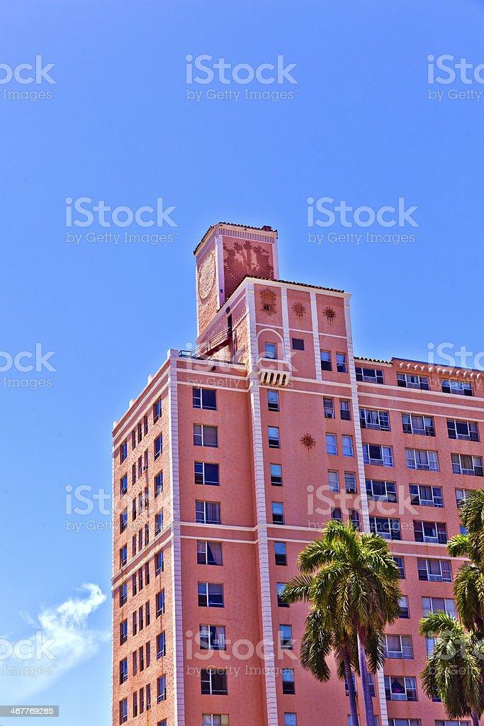 beautiful historic buildings in  Miami stock photo