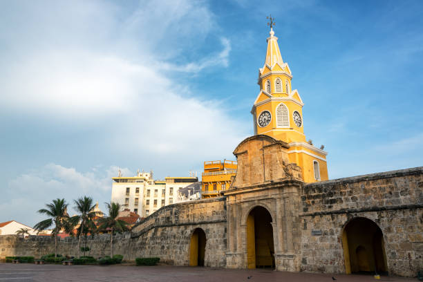 Beautiful Historic Clock Tower Gate stock photo