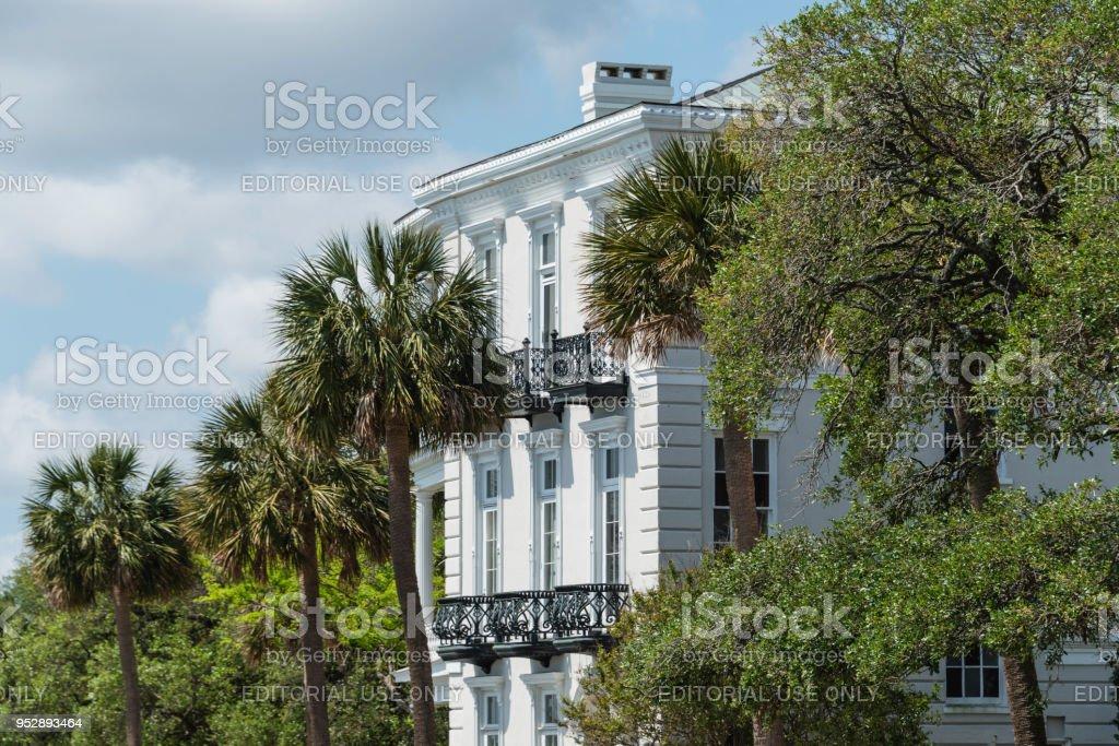 Hermosa Casa Historica Charleston Carolina Del Sur Foto De Stock Y
