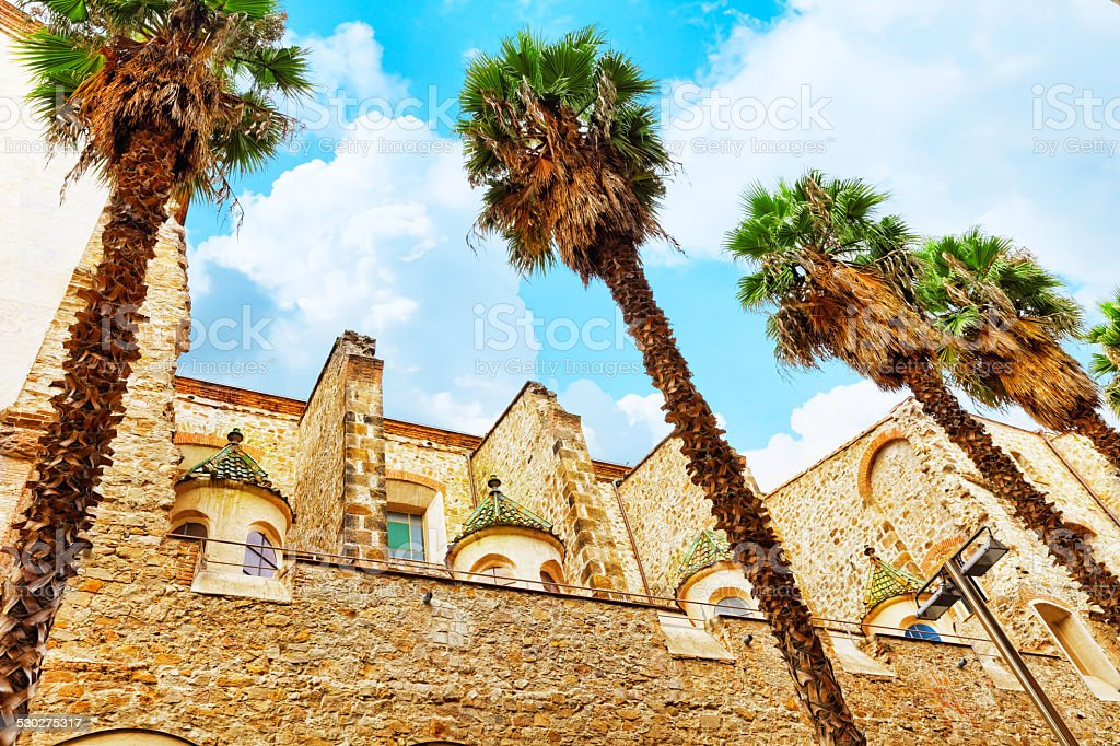 Beautiful historical landscape of the urban view Barcelona stock photo