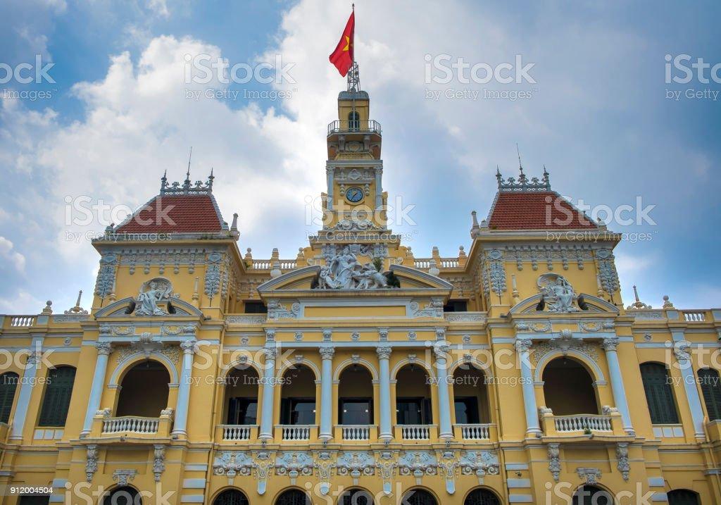Beautiful Ho Chi Minh City Hall, Vietnam stock photo