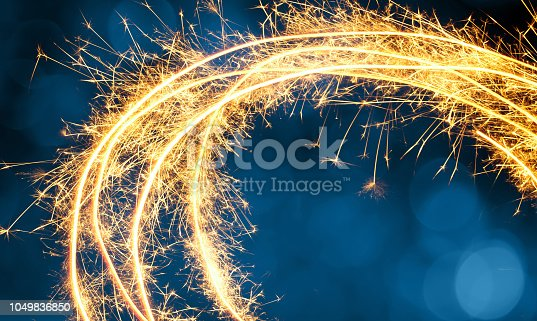977840698 istock photo Beautiful Holiday Background with Round Sparkling frame 1049836850