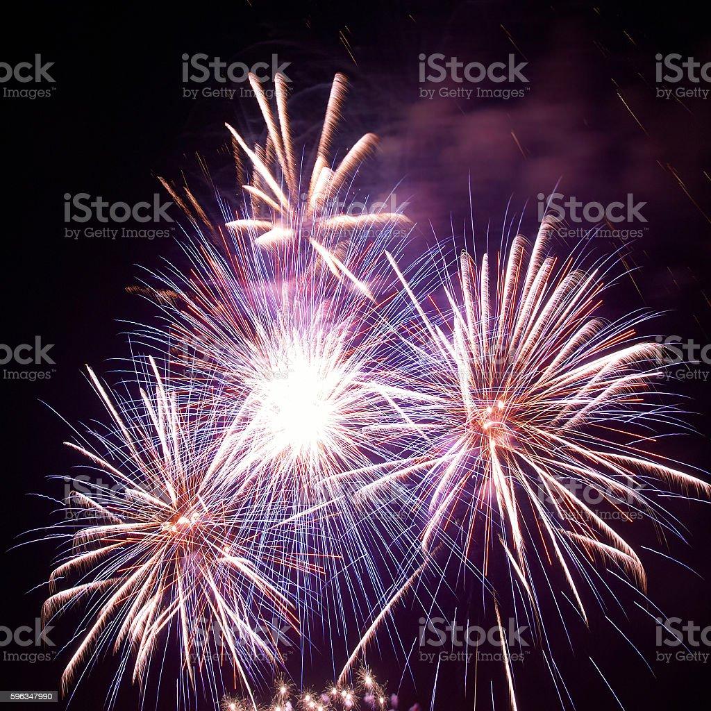 Beautiful holiday fireworks royalty-free stock photo