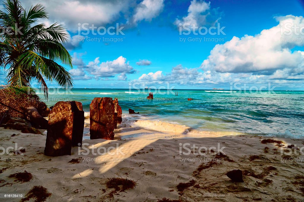 Beautiful holiday on the island of Saipan. stock photo