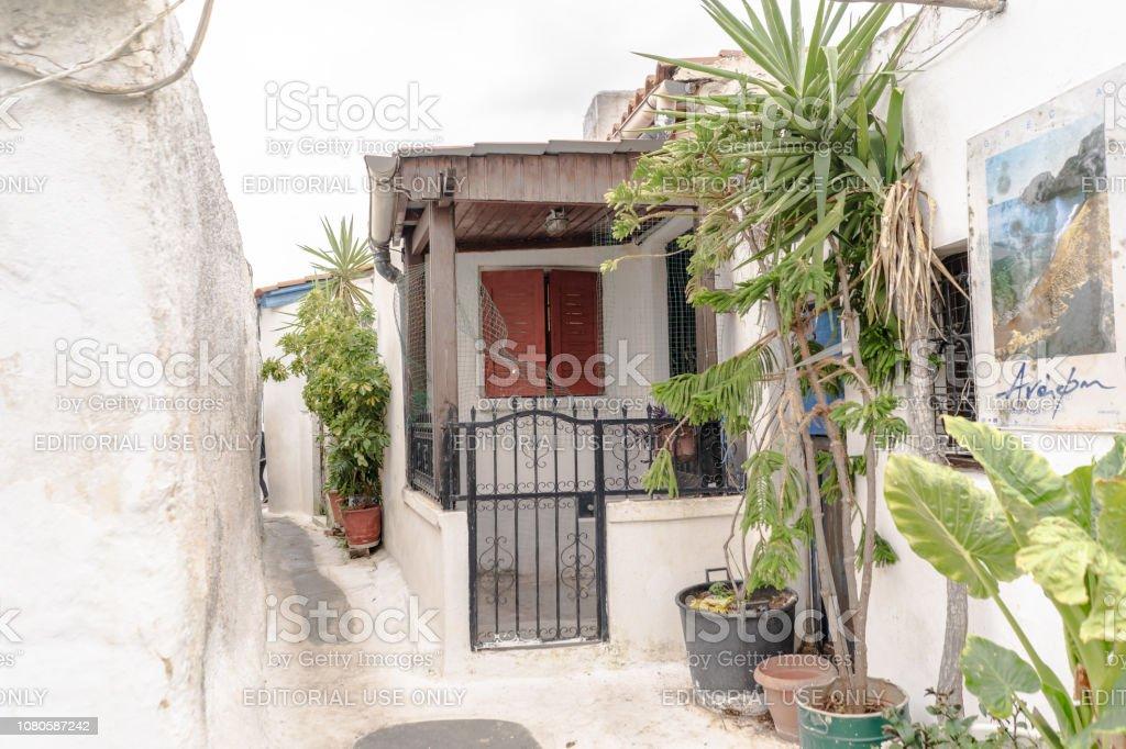 Beautiful home in Anafiotika in Athens, Greece stock photo