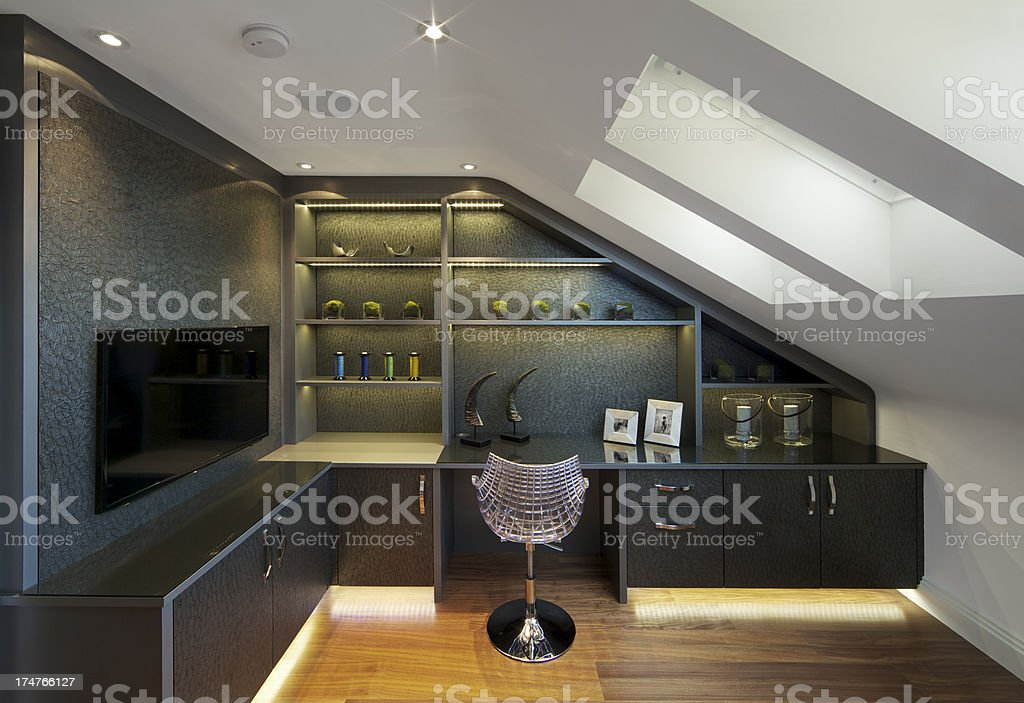 beautiful home office stock photo