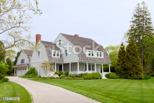 A beautiful country home near Cape Cod in New England.