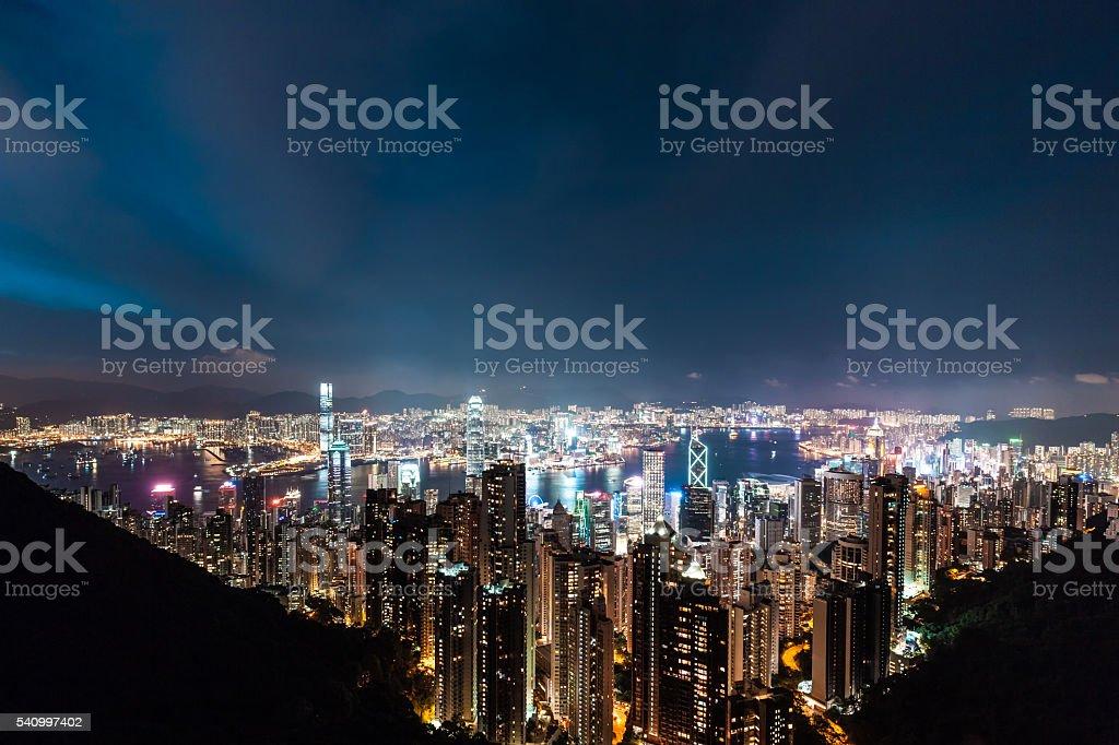Wunderschönes Hong Kong bei Nacht – Foto