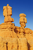 beautiful hoodoo rock formations in bryce canyon