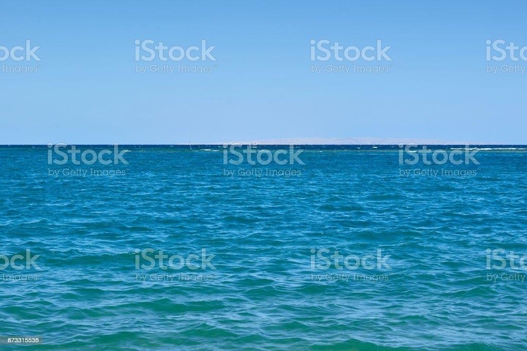 beautiful Horizon of the blue sea landscape stock photo