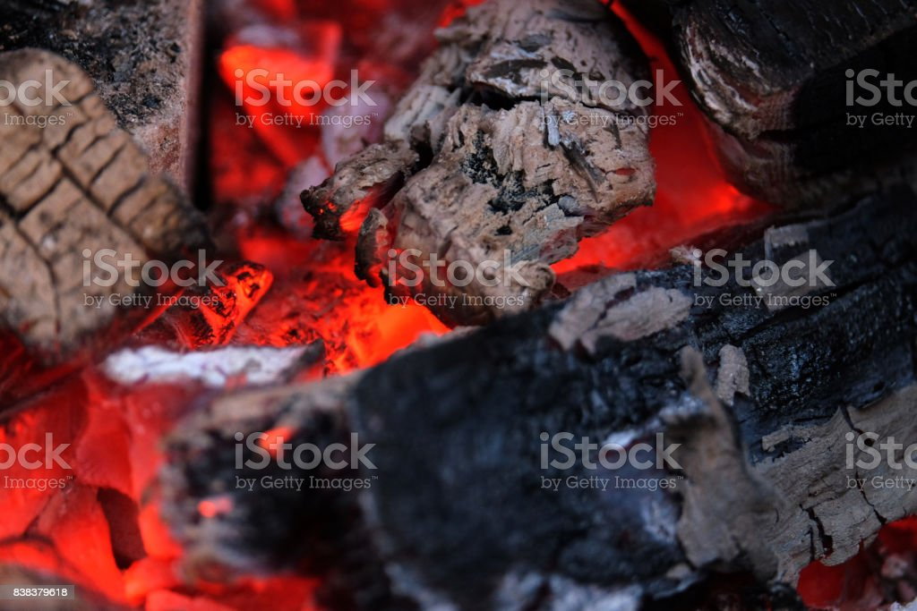 beautiful hot embers stock photo