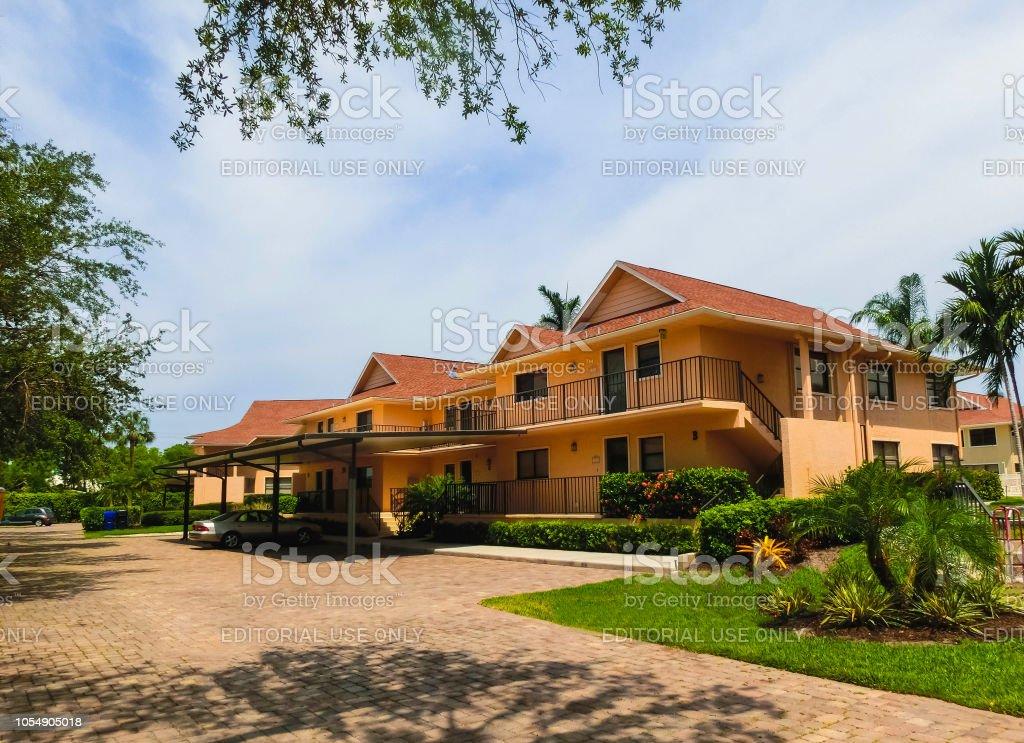 Beautiful House At The Beach Of Naples Florida Usa Stock