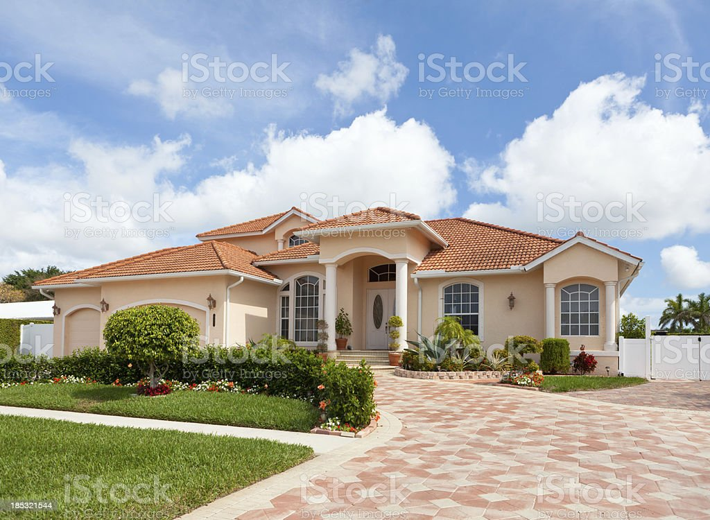Beautiful House in Florida stock photo