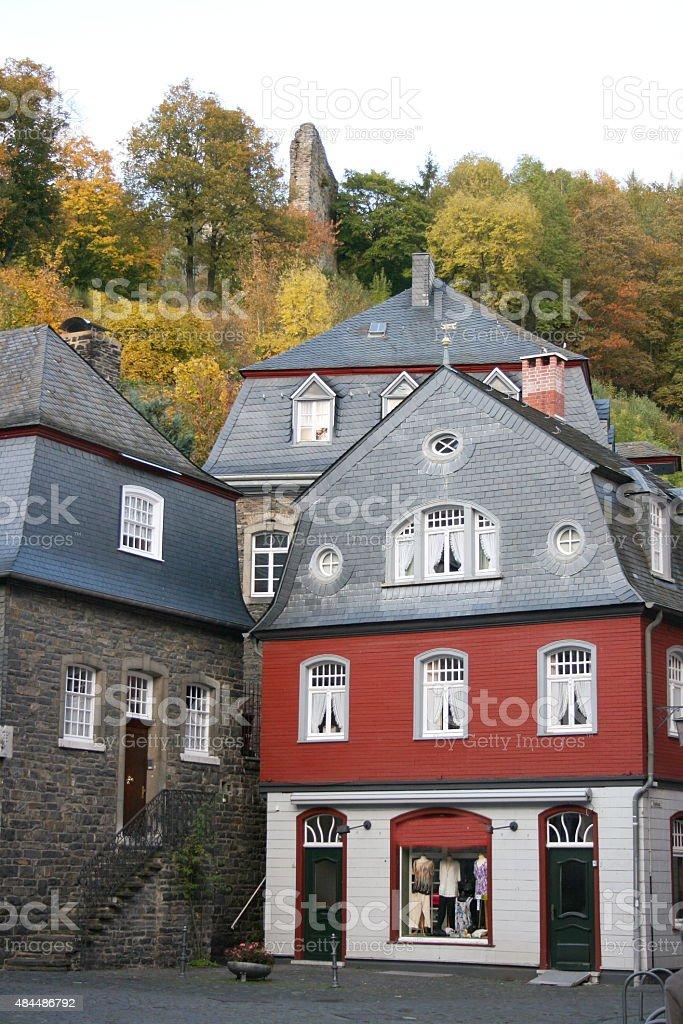 Beautiful house in Monschau stock photo