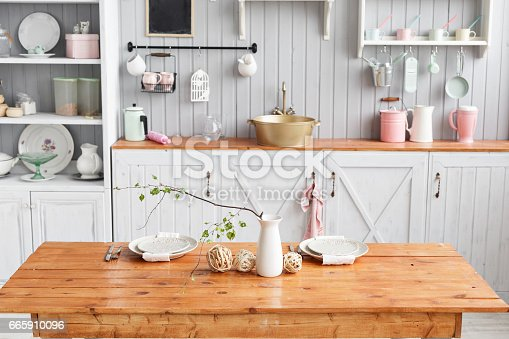 834157738istockphoto beautiful house, interior, view of the kitchen. 665910096