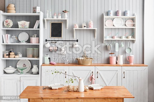 834157738istockphoto beautiful house, interior, view of the kitchen. 665910118