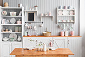 istock beautiful house, interior, view of the kitchen. 665910118
