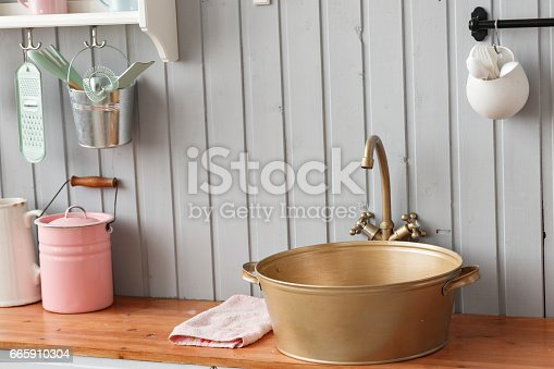 665910118 istock photo beautiful house, interior, view of the kitchen. 665910304