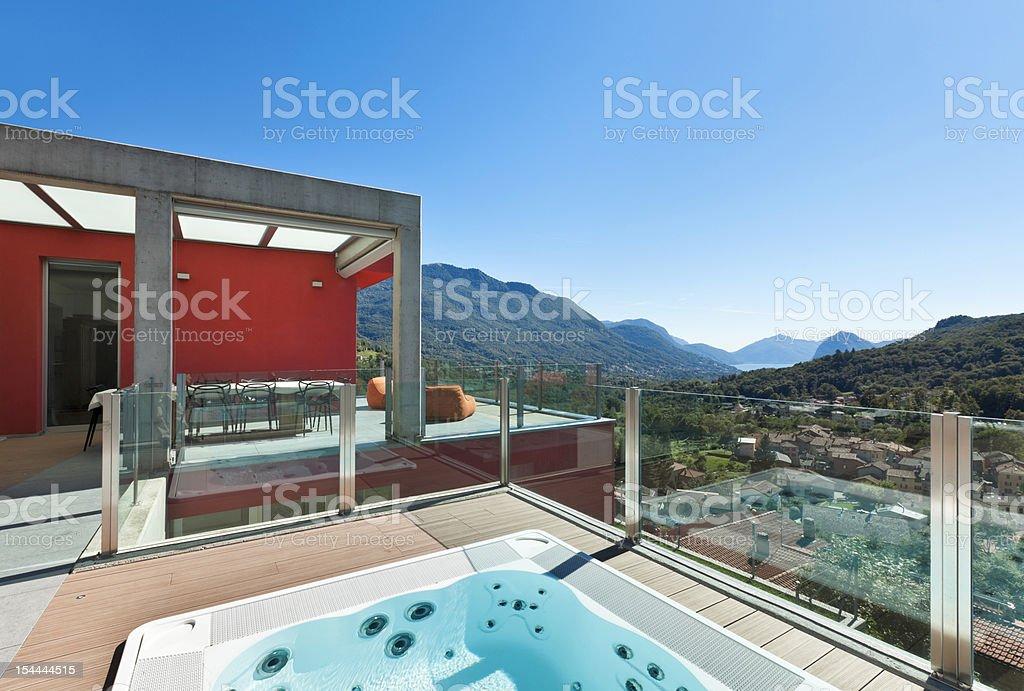 beautiful house, jacuzzi royalty-free stock photo