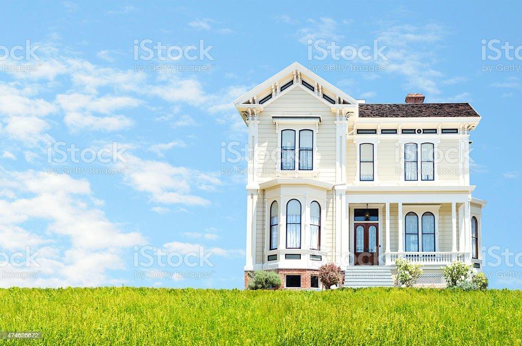 Beautiful house stock photo