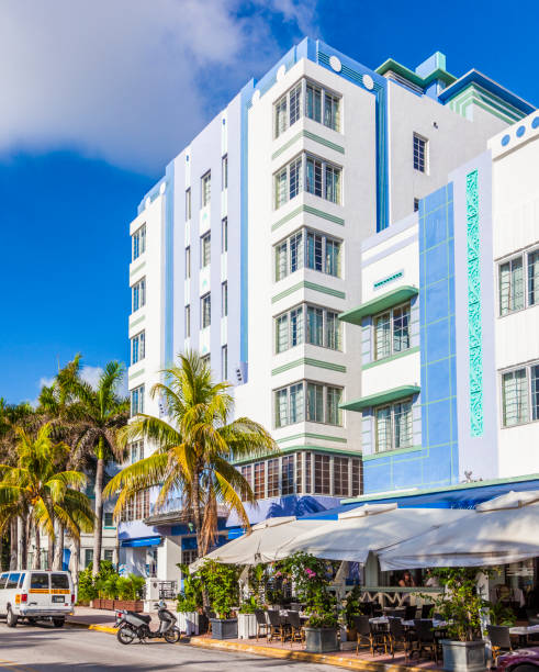 royalty free art deco district no people park miami beach pictures