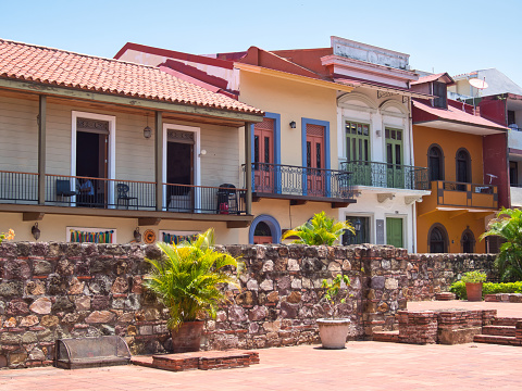 Beautiful houses in Panama City's Casco Viejo district