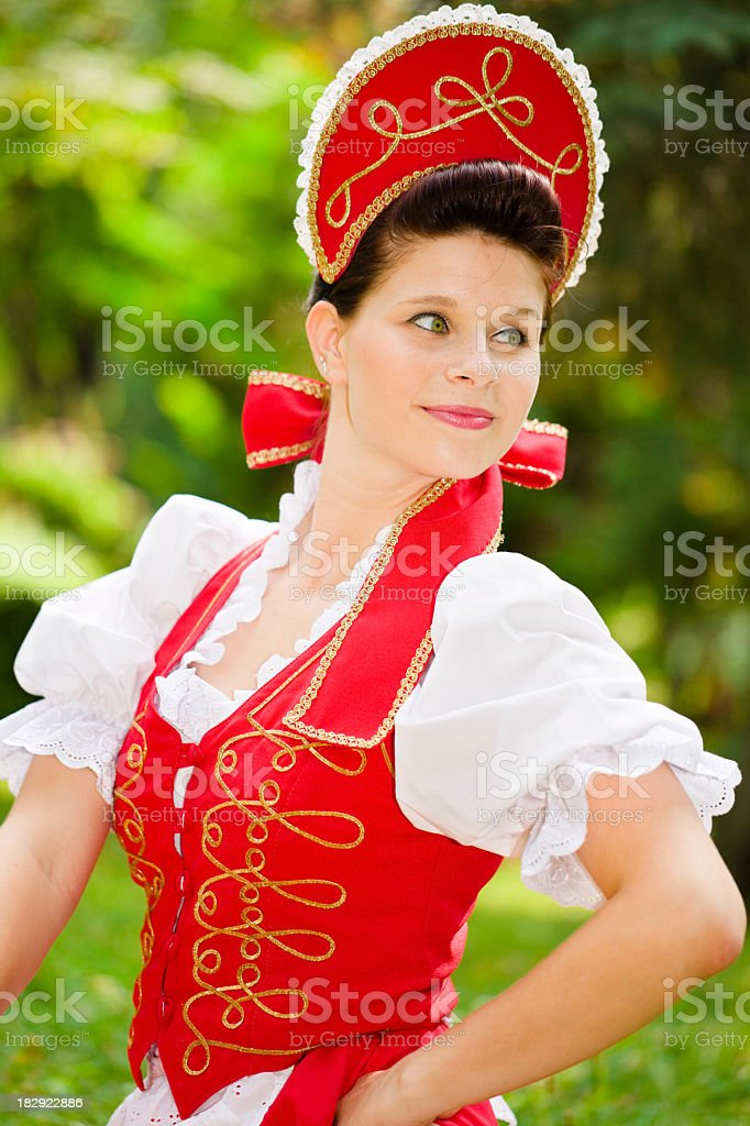 Beautiful Hungarian girl stock photo