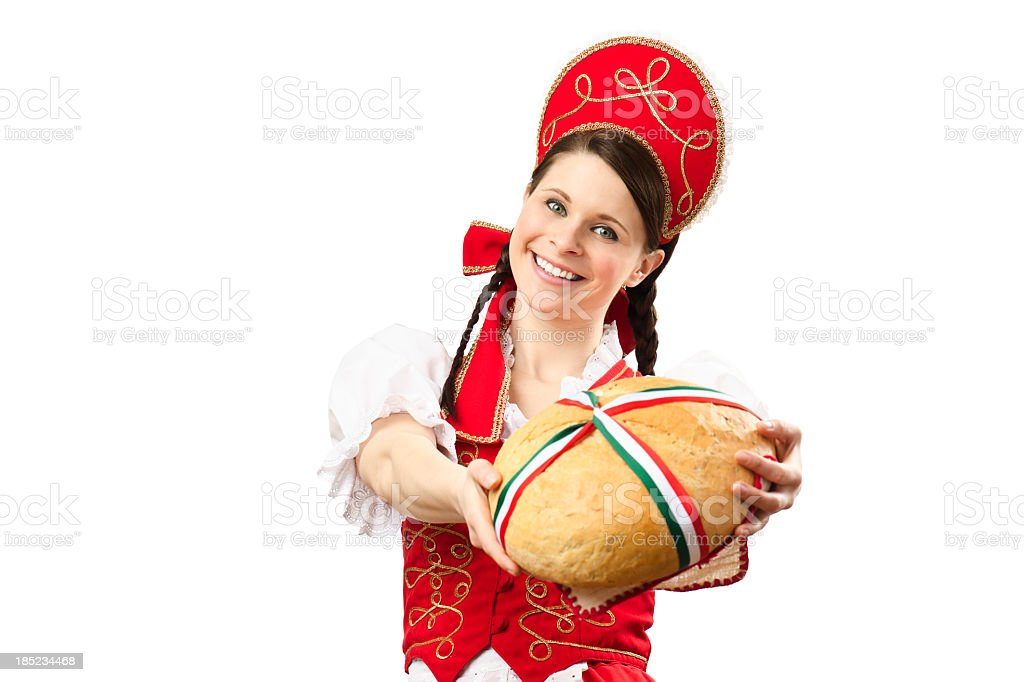 Beautiful Hungarian woman stock photo
