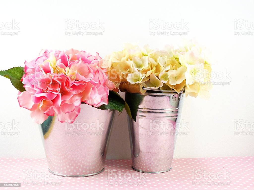 Beautiful Hydrangea Of Artificial Flowers Bouquet Stock Photo More