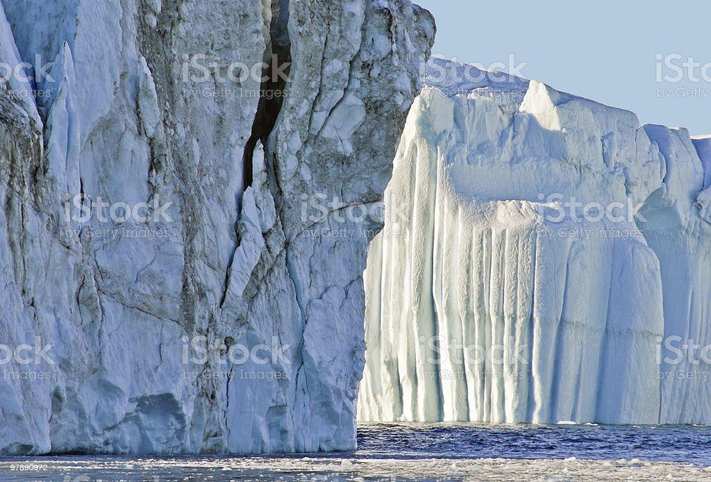Beautiful Icebergs royalty-free stock photo