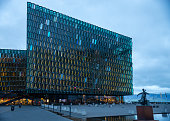 Beautiful Icelandic Concert Hall, the Harpa Building in Reyjavik
