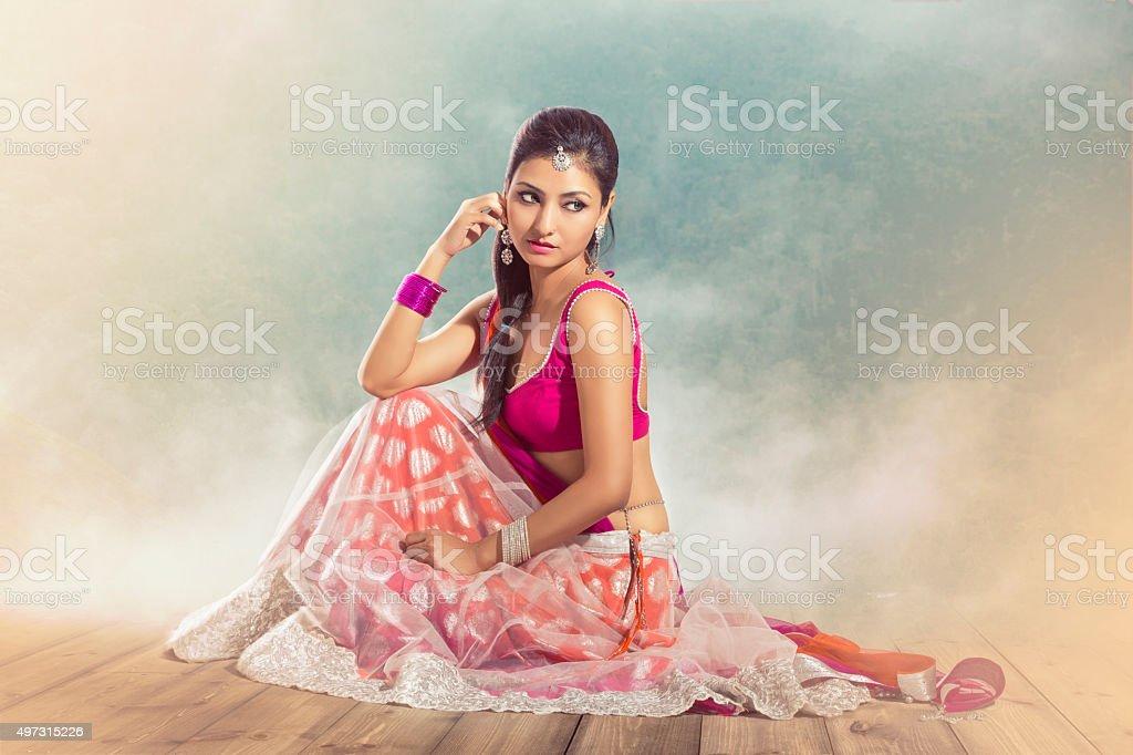 Beautiful Indian bride stock photo