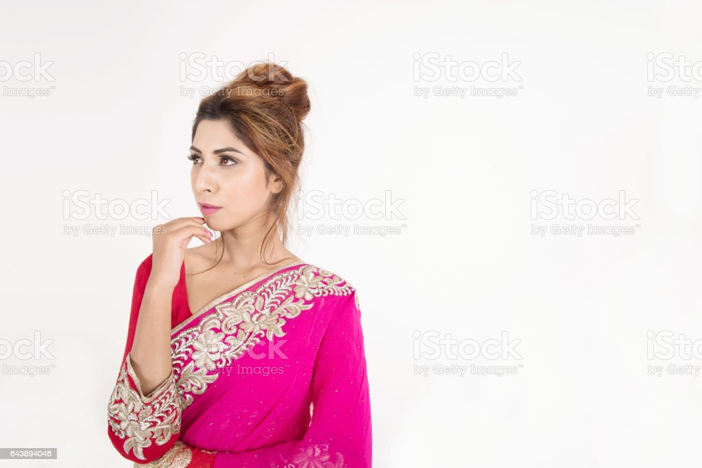 3ce91ea597 Beautiful Indian Girl In Traditional Dress Stock Photo & More ...