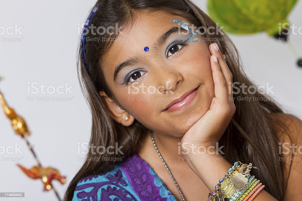 Beautiful indian girl royalty-free stock photo