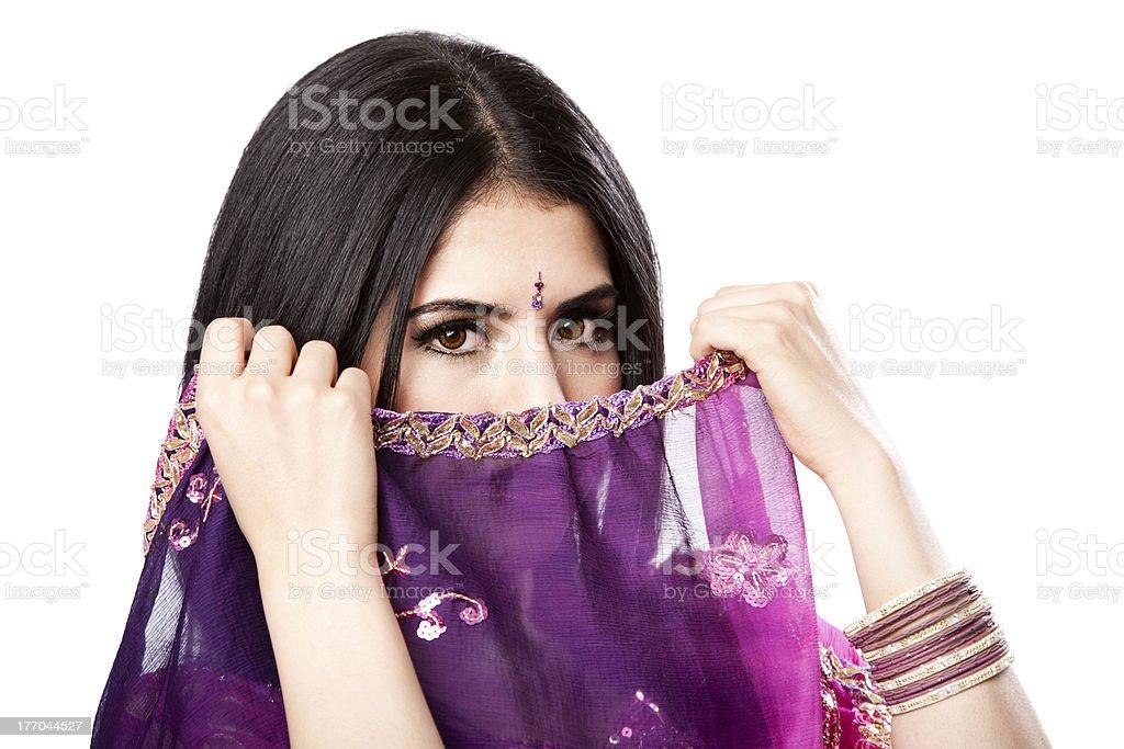 Beautiful Indian Hindu woman stock photo