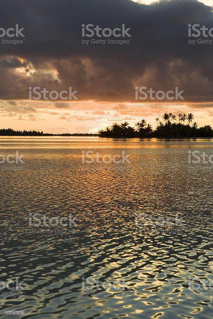 beautiful indian ocean sunset royalty-free stock photo
