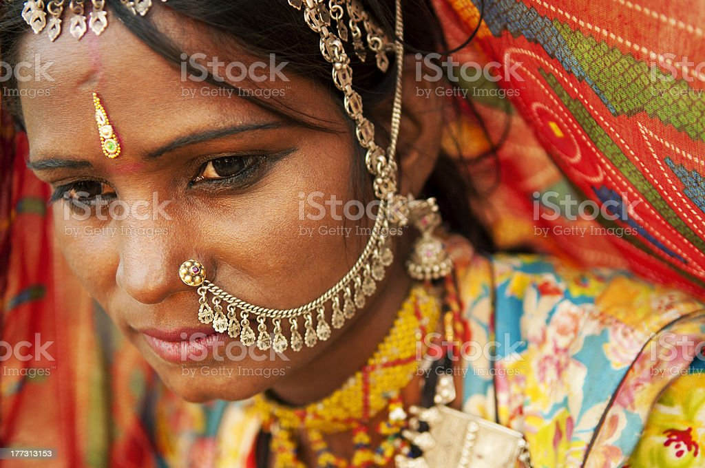 Beautiful Indian royalty-free stock photo