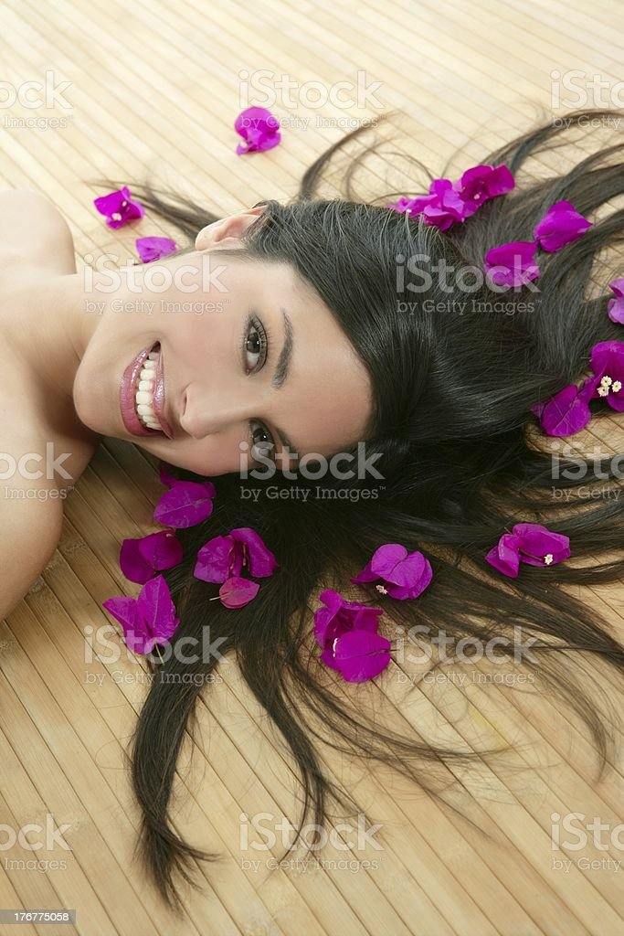 Beautiful indian woman portrait in a beauty spa royalty-free stock photo