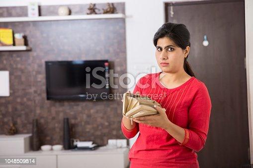 istock Beautiful Indian woman portrait - Stock image 1048509814