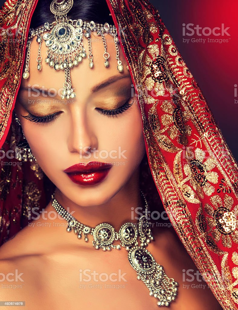 Beautiful Indian women portrait. stock photo