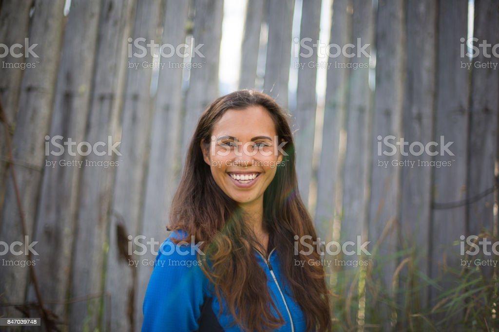 Beautiful Indigenous Canadian Woman stock photo