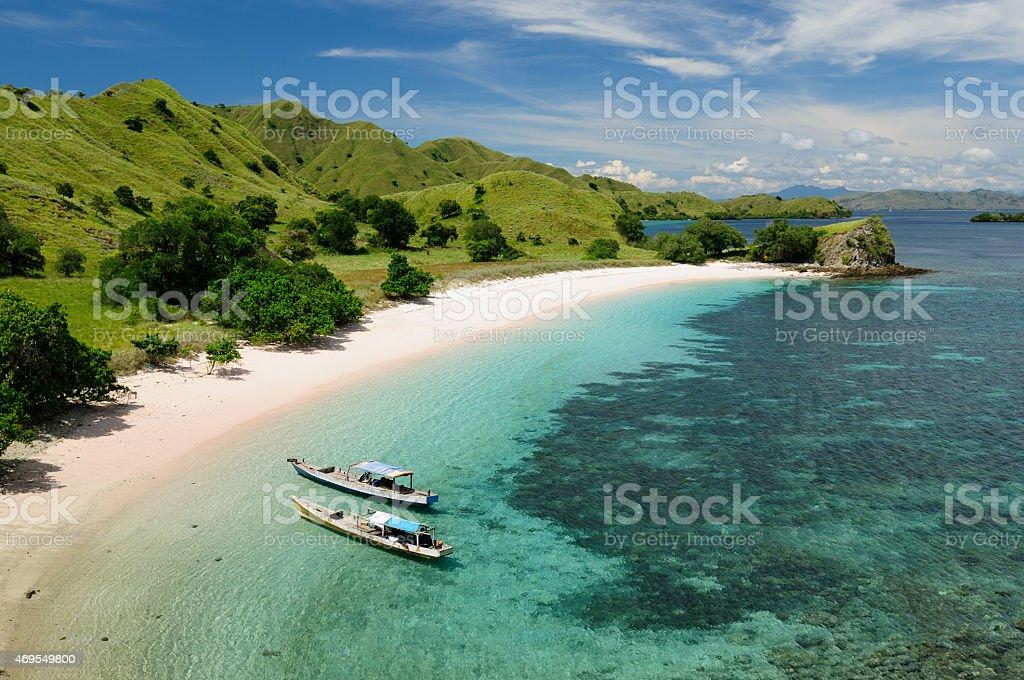Beautiful Indonesian beaches stock photo