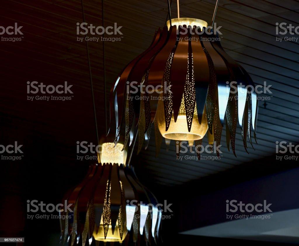 Beautiful interior lights isolated unique photo stock photo