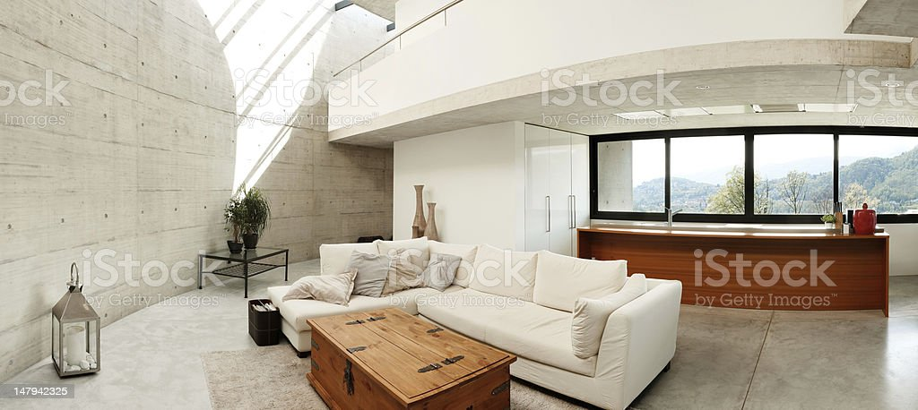 Beautiful interior modern home royalty-free stock photo