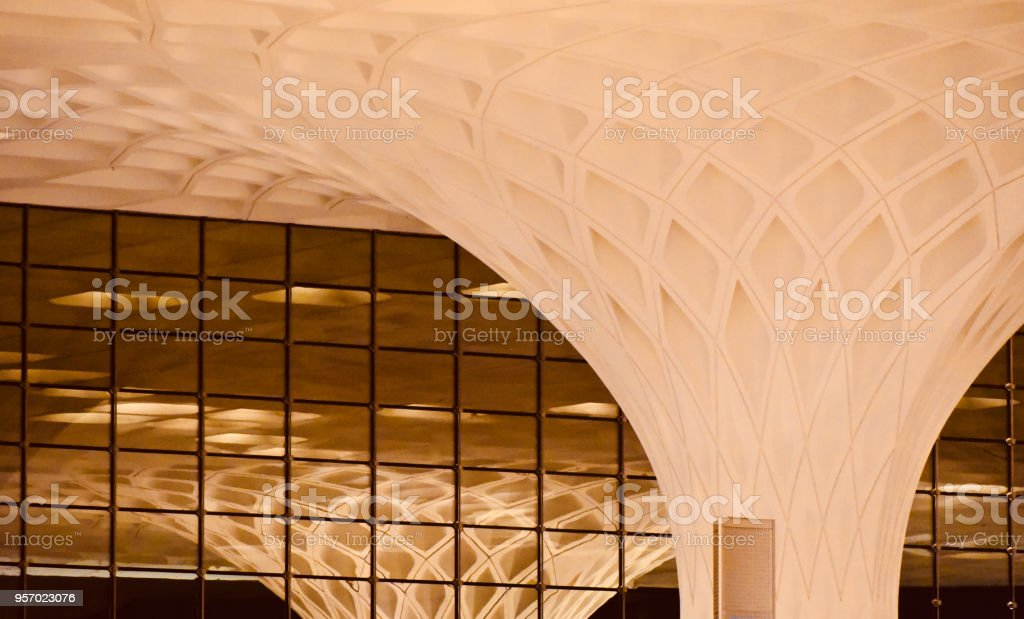 Beautiful interior structure of a modern building unique photo stock photo