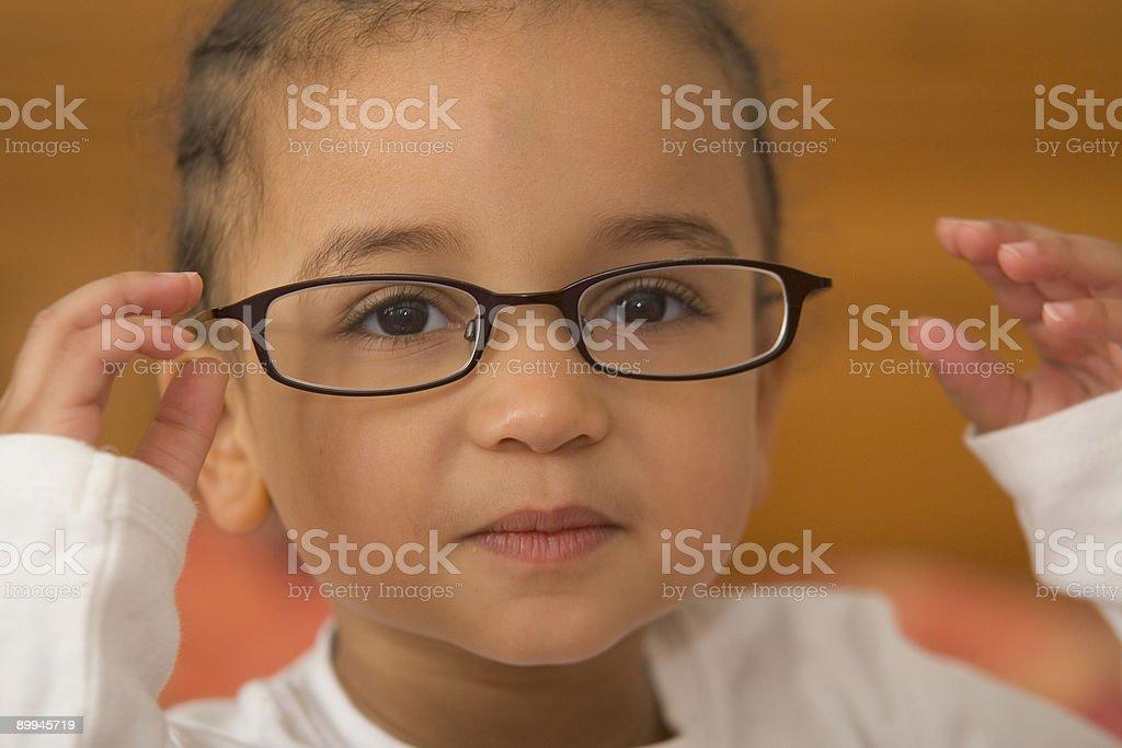Wunderschöne Interracial afroamerikanische Mädchen In großen Glases – Foto
