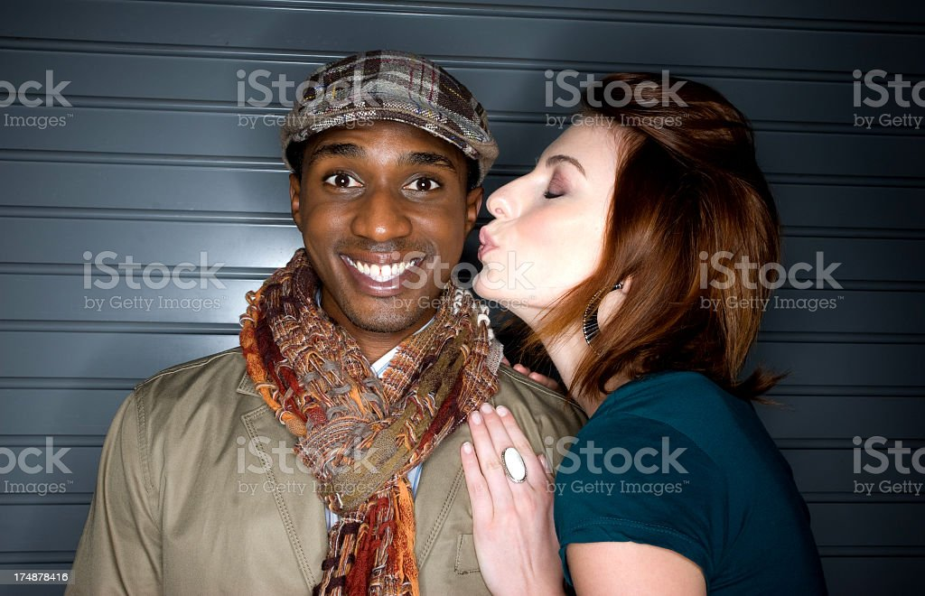 Beautiful interracial couple royalty-free stock photo