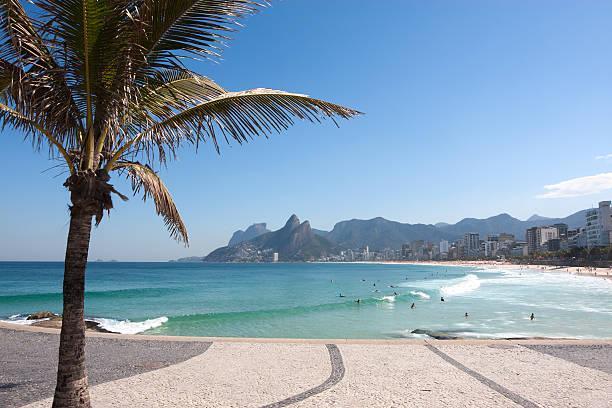 Beautiful Ipanema Beach in Rio de Janeiro stock photo